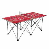 North Carolina State Wolfpack Pop Up 6' Ping Pong Table