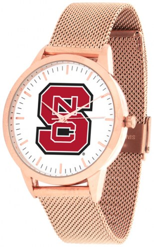 North Carolina State Wolfpack Rose Mesh Statement Watch