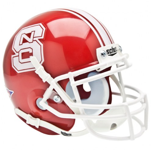 North Carolina State Wolfpack Scarlet Schutt Mini Football Helmet