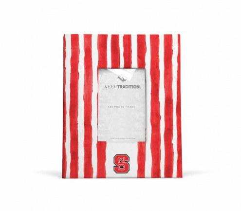 North Carolina State Wolfpack School Stripes Picture Frame