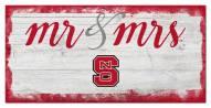 North Carolina State Wolfpack Script Mr. & Mrs. Sign
