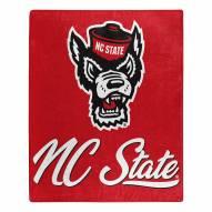 North Carolina State Wolfpack Signature Raschel Throw Blanket
