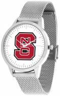 North Carolina State Wolfpack Silver Mesh Statement Watch