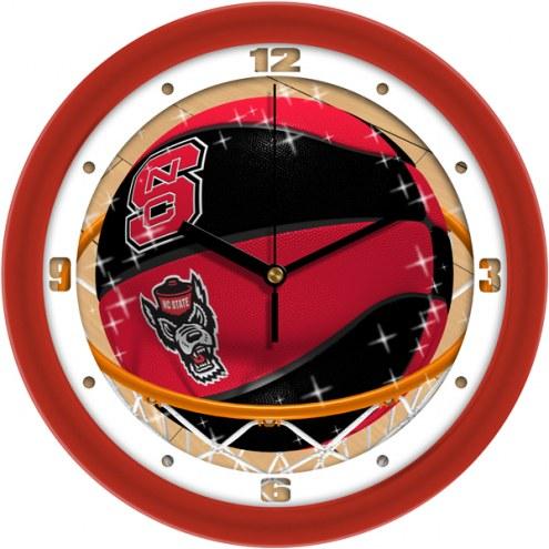 North Carolina State Wolfpack Slam Dunk Wall Clock