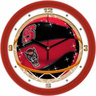 North Carolina State Wolfpack Slam Dunk Wall Clock
