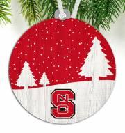 North Carolina State Wolfpack Snow Scene Ornament