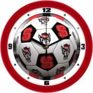 North Carolina State Wolfpack Soccer Wall Clock