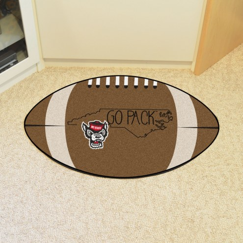 North Carolina State Wolfpack Southern Style Football Floor Mat