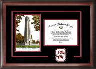 North Carolina State Wolfpack Spirit Diploma Frame with Campus Image