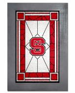 North Carolina State Wolfpack Stained Glass with Frame