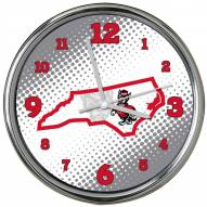 North Carolina State Wolfpack State of Mind Chrome Clock
