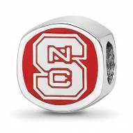North Carolina State Wolfpack Sterling Silver Logo Bead