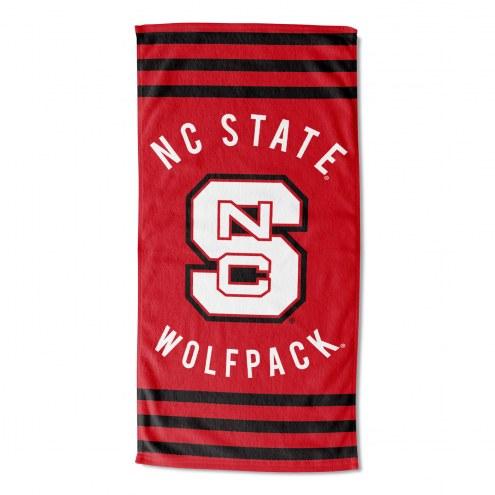 North Carolina State Wolfpack Stripes Beach Towel