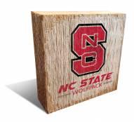 North Carolina State Wolfpack Team Logo Block