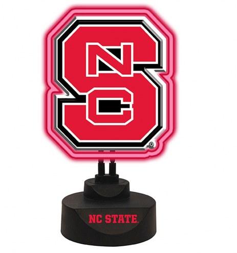 North Carolina State Wolfpack Team Logo Neon Light