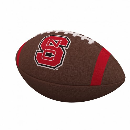 North Carolina State Wolfpack Team Stripe Official Size Composite Football