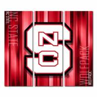 North Carolina State Wolfpack Triptych Rush Canvas Wall Art