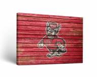 North Carolina State Wolfpack Weathered Canvas Wall Art