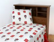 North Carolina State Wolfpack White Bed Sheets