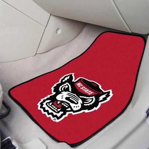 North Carolina State Wolfpack Wolf Head 2-Piece Carpet Car Mats