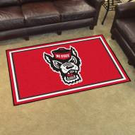 North Carolina State Wolfpack Wolf Head 4' x 6' Area Rug