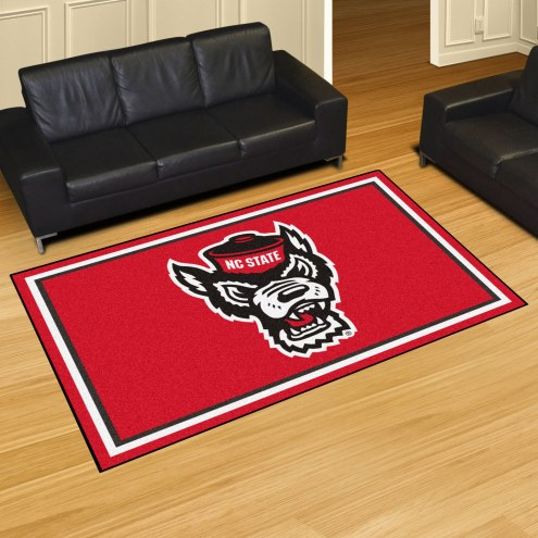 North Carolina State Wolfpack Wolf Head 5' x 8' Area Rug