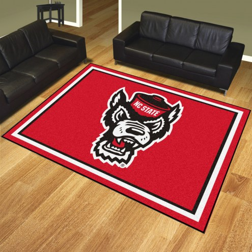 North Carolina State Wolfpack Wolf Head 8' x 10' Area Rug
