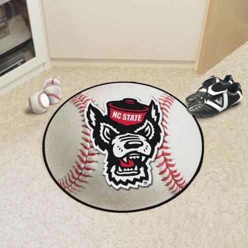 North Carolina State Wolfpack Wolf Head Baseball Rug