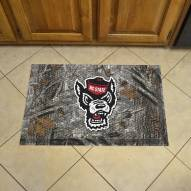 North Carolina State Wolfpack Wolf Head Camo Scraper Door Mat