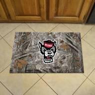 North Carolina State Wolfpack Wolf Head Camo Scraper Door Mat