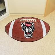 North Carolina State Wolfpack Wolf Head Football Floor Mat