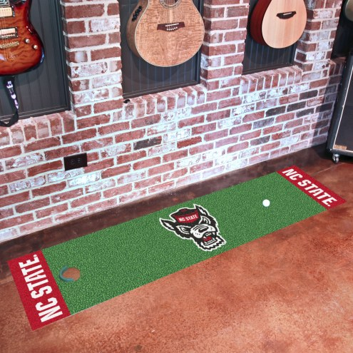 North Carolina State Wolfpack Wolf Head Golf Putting Green Mat
