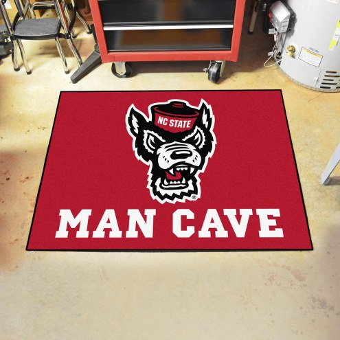 North Carolina State Wolfpack Wolf Head Man Cave All-Star Rug