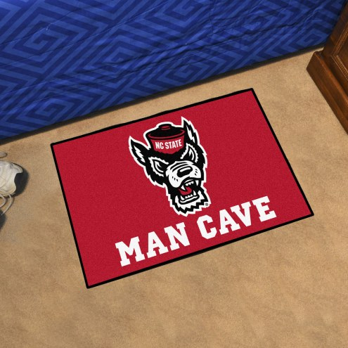 North Carolina State Wolfpack Wolf Head Man Cave Starter Mat
