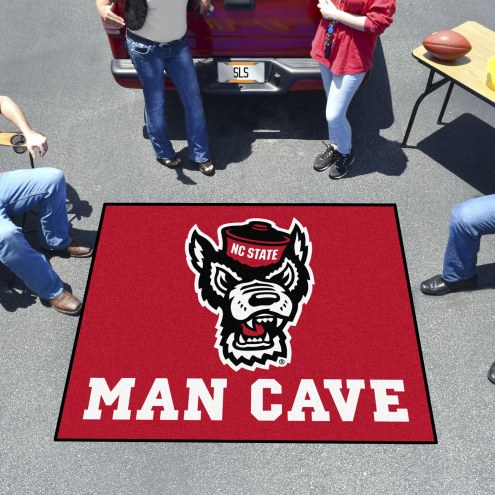 North Carolina State Wolfpack Wolf Head Man Cave Tailgate Mat