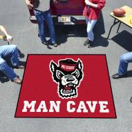 North Carolina State Wolfpack Wolf Head Man Cave Tailgate Mat
