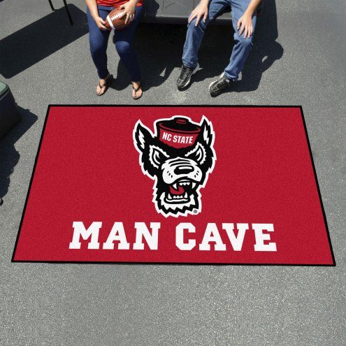 North Carolina State Wolfpack Wolf Head Man Cave Ulti-Mat Rug