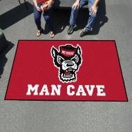 North Carolina State Wolfpack Wolf Head Man Cave Ulti-Mat Rug
