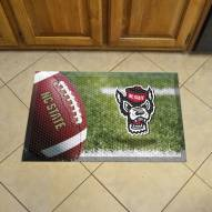 North Carolina State Wolfpack Wolf Head Scraper Door Mat