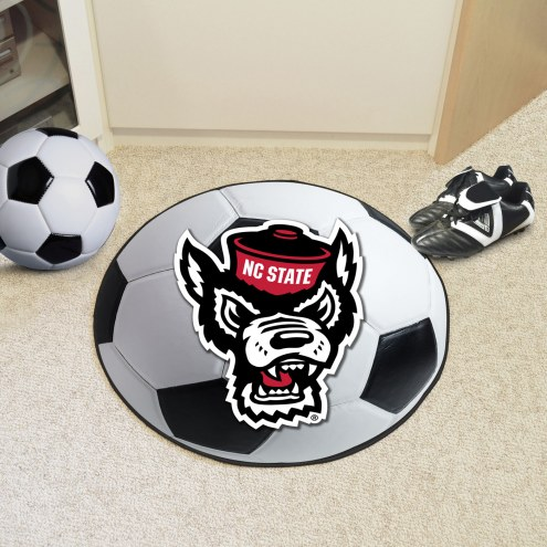 North Carolina State Wolfpack Wolf Head Soccer Ball Mat