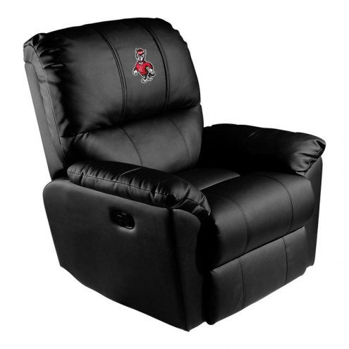 North Carolina State Wolfpack XZipit Rocker Recliner with Wolf Logo