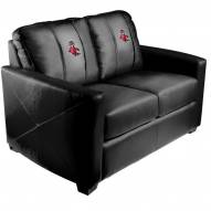 North Carolina State Wolfpack XZipit Silver Loveseat with Wolf Logo