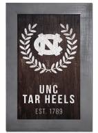 "North Carolina Tar Heels 11"" x 19"" Laurel Wreath Framed Sign"