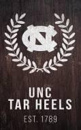 "North Carolina Tar Heels 11"" x 19"" Laurel Wreath Sign"
