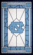 """North Carolina Tar Heels 11"""" x 19"""" Stained Glass Sign"""