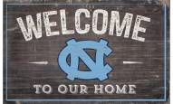 """North Carolina Tar Heels 11"""" x 19"""" Welcome to Our Home Sign"""