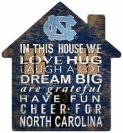 "North Carolina Tar Heels 12"" House Sign"