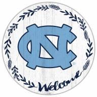 """North Carolina Tar Heels 12"""" Welcome Circle Sign"""