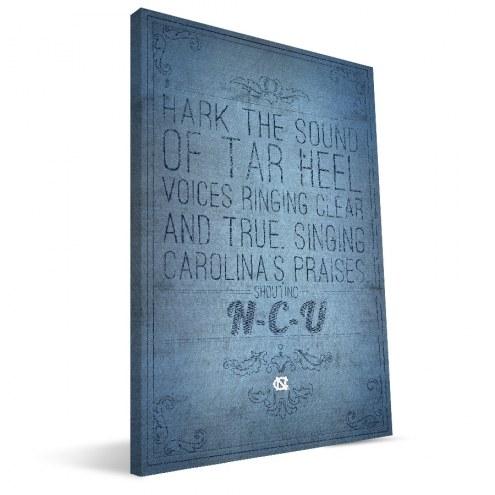 """North Carolina Tar Heels 16"""" x 24"""" Song Canvas Print"""