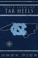 "North Carolina Tar Heels 17"" x 26"" Coordinates Sign"